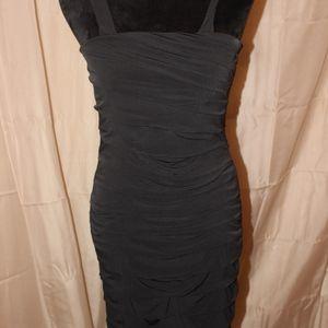 Black Slim Fitting Cocktail Dress